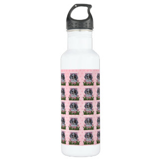 Mothers Day - Pink Tulips - Bluetick Coonhound Stainless Steel Water Bottle