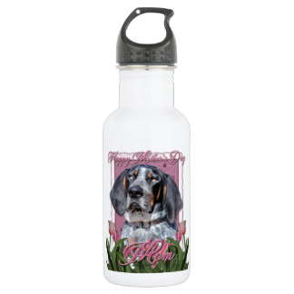 Mothers Day - Pink Tulips - Bluetick Coonhound Water Bottle