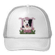 Mothers Day - Pink Tulips - Border Collie Hat