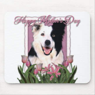 Mothers Day - Pink Tulips - Border Collie Mouse Pad