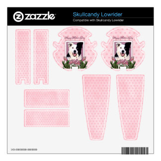 Mothers Day - Pink Tulips - Border Collie Skullcandy Decals
