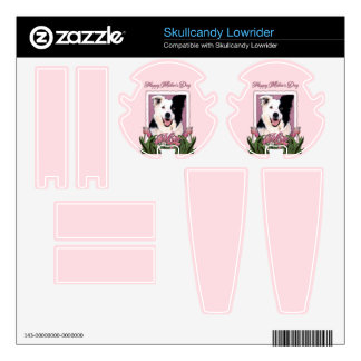 Mothers Day - Pink Tulips - Border Collie Skullcandy Lowrider Skins