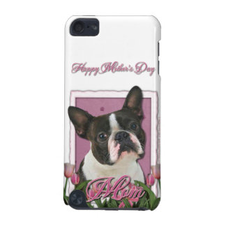 Mothers Day - Pink Tulips - Boston Terrier iPod Touch 5G Covers