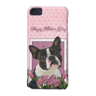 Mothers Day - Pink Tulips - Boston Terrier iPod Touch (5th Generation) Covers