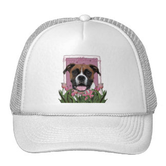 Mothers Day - Pink Tulips - Boxer Trucker Hats