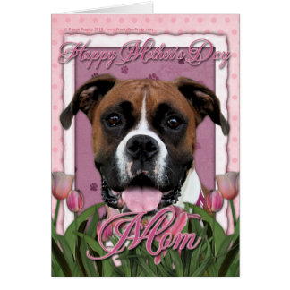 Mothers Day - Pink Tulips - Boxer - Vindy Card