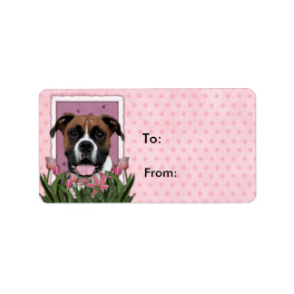 Mothers Day - Pink Tulips - Boxer - Vindy Label