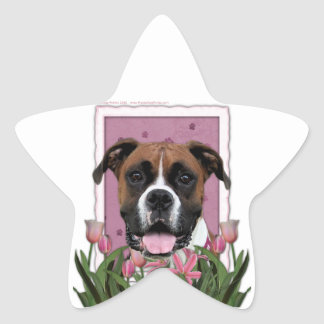 Mothers Day - Pink Tulips - Boxer - Vindy Star Sticker