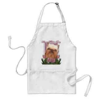 Mothers Day - Pink Tulips - Brussels Griffon Adult Apron
