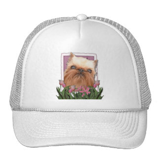 Mothers Day - Pink Tulips - Brussels Griffon Trucker Hat