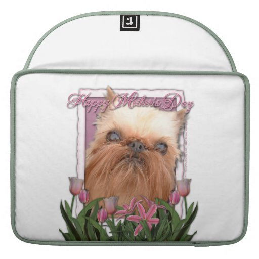 Mothers Day - Pink Tulips - Brussels Griffon Sleeve For MacBooks