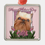 Mothers Day - Pink Tulips - Brussels Griffon Christmas Tree Ornaments