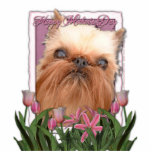 Mothers Day - Pink Tulips - Brussels Griffon Photo Cut Outs