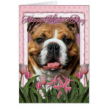 Mothers Day - Pink Tulips - Bulldog Cards
