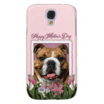 Mothers Day - Pink Tulips - Bulldog Galaxy S4 Cases