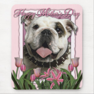 Mothers Day - Pink Tulips - Bulldog Mouse Pad