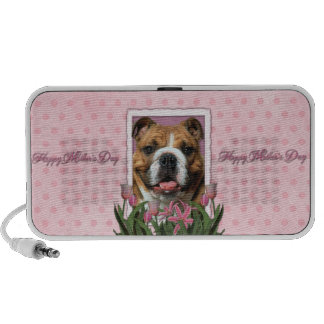 Mothers Day - Pink Tulips - Bulldog Portable Speaker