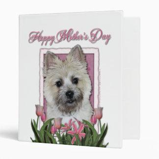 Mothers Day - Pink Tulips - Cairn - Teddy Bear Vinyl Binders