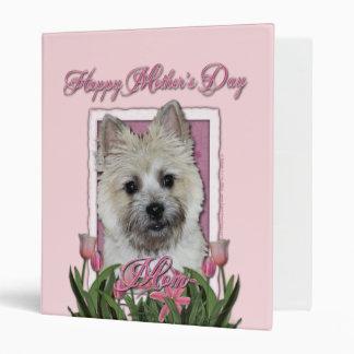 Mothers Day - Pink Tulips - Cairn - Teddy Bear Vinyl Binder
