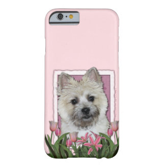 Mothers Day - Pink Tulips - Cairn - Teddy Bear Barely There iPhone 6 Case