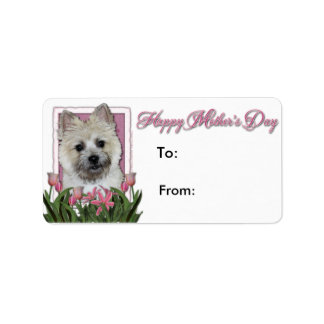 Mothers Day - Pink Tulips - Cairn - Teddy Bear Labels