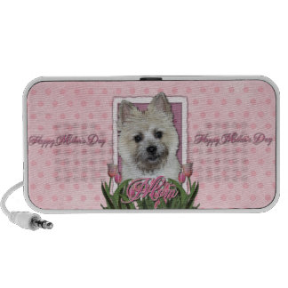 Mothers Day - Pink Tulips - Cairn - Teddy Bear Portable Speaker