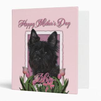 Mothers Day - Pink Tulips - Cairn Terrier - Rosco Binders