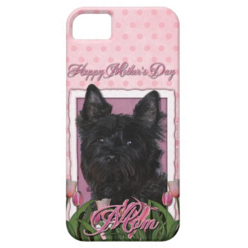 Mothers Day - Pink Tulips - Cairn Terrier - Rosco iPhone 5 Covers
