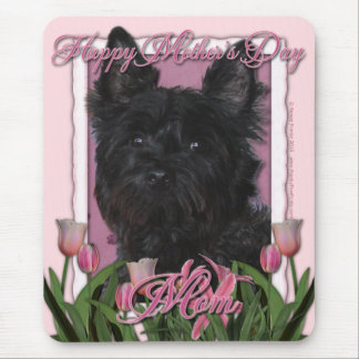 Mothers Day - Pink Tulips - Cairn Terrier - Rosco Mouse Pad