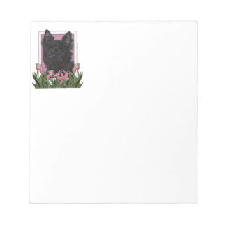 Mothers Day - Pink Tulips - Cairn Terrier - Rosco Notepad