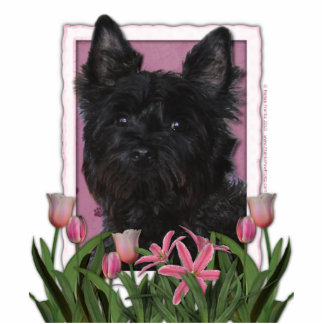 Mothers Day - Pink Tulips - Cairn Terrier - Rosco Statuette