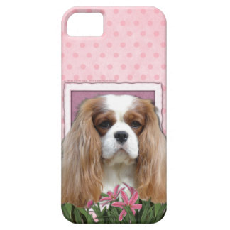 Mothers Day - Pink Tulips - Cavalier - Blenheim iPhone 5 Case