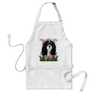 Mothers Day - Pink Tulips - Cavalier - Tri-Color Adult Apron