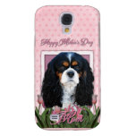 Mothers Day - Pink Tulips - Cavalier - Tri-Color Samsung Galaxy S4 Cover