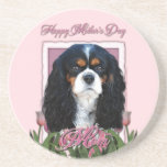Mothers Day - Pink Tulips - Cavalier - Tri-Color Coaster