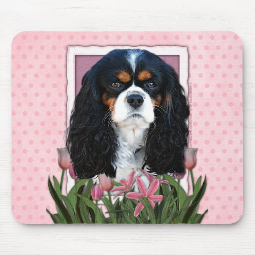 Mothers Day - Pink Tulips - Cavalier - Tri-Color Mousepads
