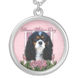 Mothers Day - Pink Tulips - Cavalier - Tri-Color Necklaces