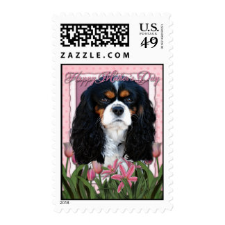 Mothers Day - Pink Tulips - Cavalier - Tri-Color Postage Stamp