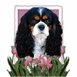 Mothers Day - Pink Tulips - Cavalier - Tri-Color Standing Photo Sculpture
