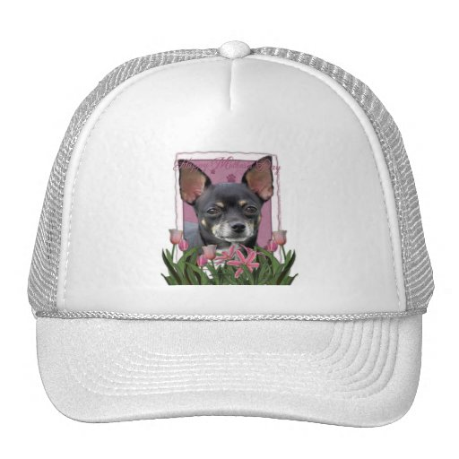 Mothers Day - Pink Tulips - Chihuahua - Isabella Hat