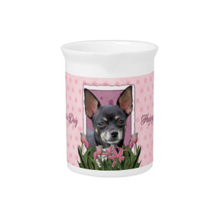 Mothers Day - Pink Tulips - Chihuahua - Isabella Pitchers