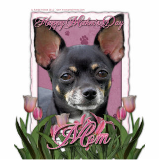 Mothers Day - Pink Tulips - Chihuahua - Isabella Statuette