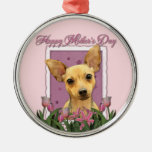 Mothers Day - Pink Tulips - Chihuahua Ornament