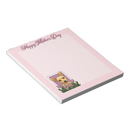 Mothers Day - Pink Tulips - Chihuahua Scratch Pad