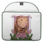 Mothers Day - Pink Tulips - Chinese Shar Pei Lucky Sleeves For MacBook Pro