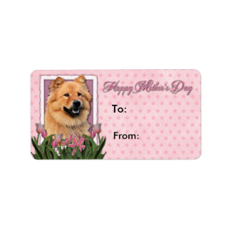 Mothers Day - Pink Tulips - Chow Chow - Cinny Label