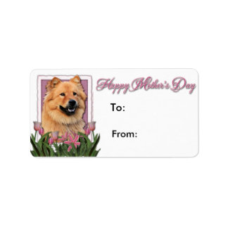 Mothers Day - Pink Tulips - Chow Chow - Cinny Labels
