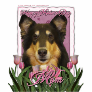 Mothers Day - Pink Tulips - Collie - Caroline Cutout