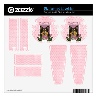 Mothers Day - Pink Tulips - Collie - Caroline Decal For Skullcandy