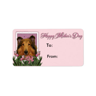 Mothers Day - Pink Tulips - Collie - Natalie Label